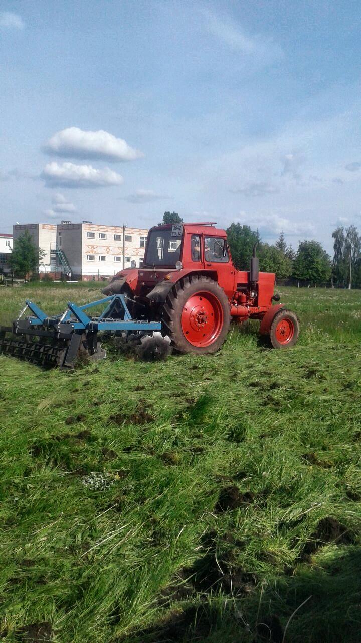 Начались работы по реконструкции футбольного поля